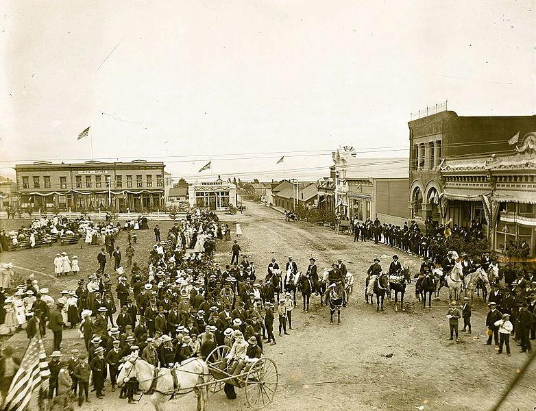 Arcata Plaza in the 1890's