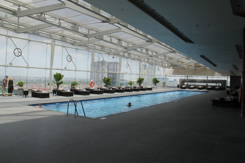 The swimming pool at the JW Marriott Hanoi