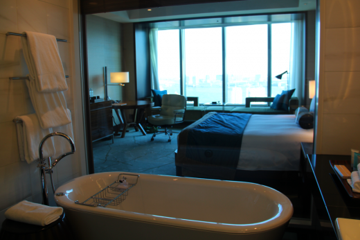 I was obsessed with this room and the view of Tokyo Bay