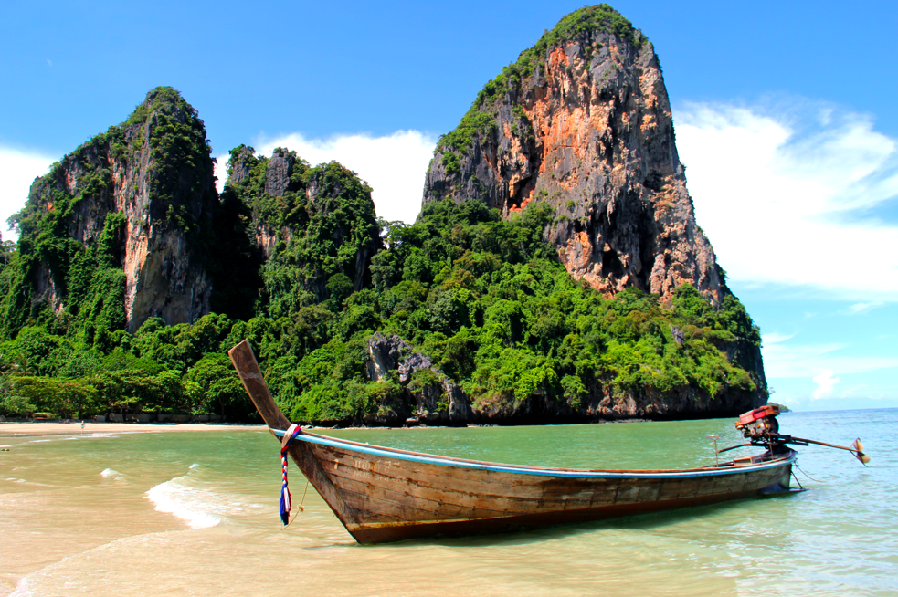 Railay Beach is only a 15 minute boat ride from Ao Nang