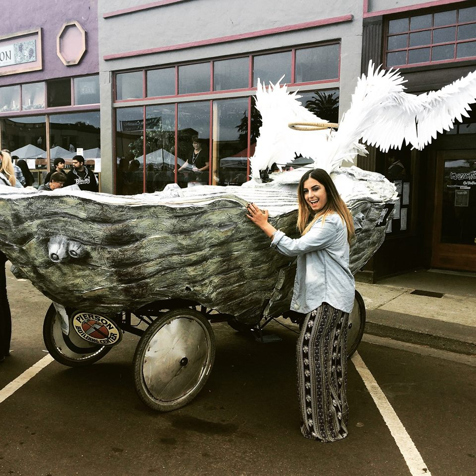 From last year's Humboldt Oyster Festival with my sister and a giant oyster-mobile.
