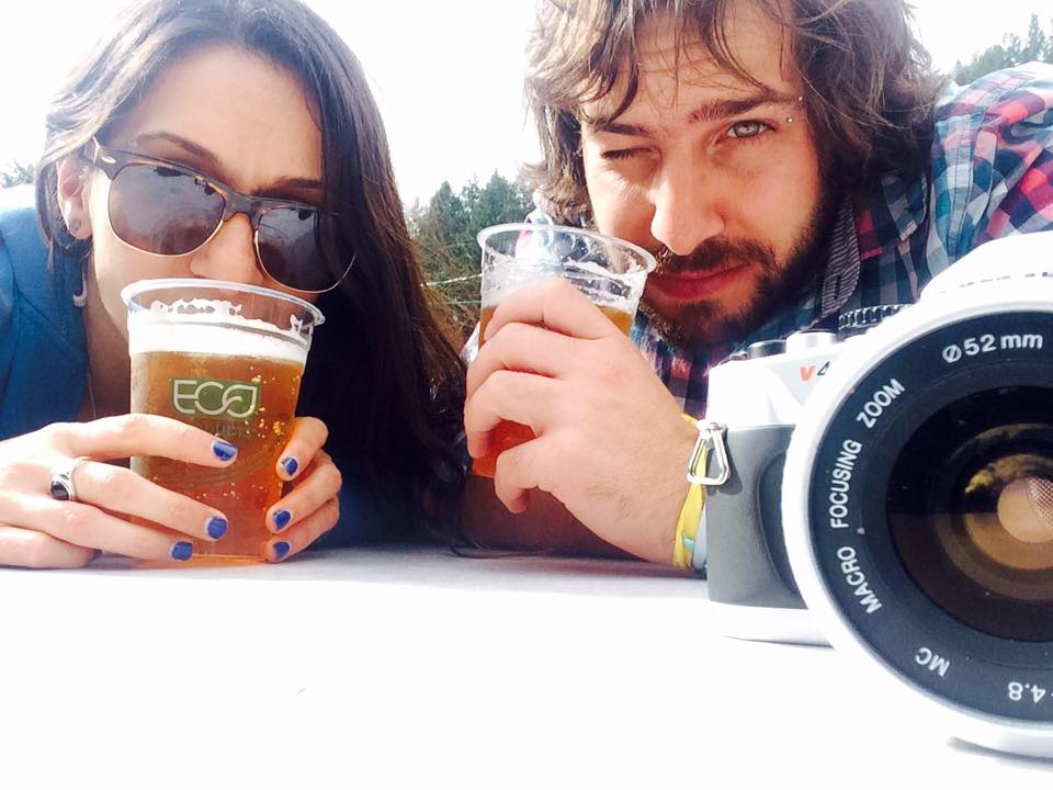 Beers and selfies as we waited for the oysters to be ready.